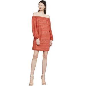 BCBGMaxAzria Anitra Burnout Off-the-Shoulder Dress